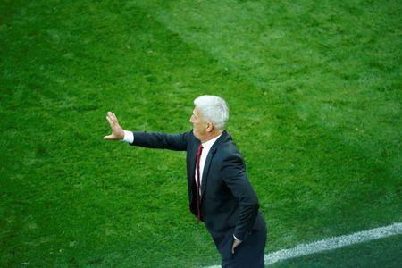 Soccer Football - World Cup - Group E - Serbia vs Switzerland - Kaliningrad Stadium, Kaliningrad, Russia - June 22, 2018 Switzerland coach Vladimir Petkovic gestures REUTERS/Fabrizio Bensch