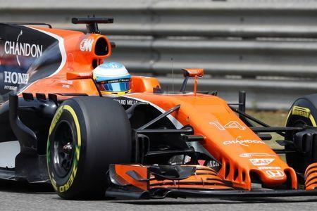 Formula One - F1 - Chinese Grand Prix - Shanghai, China - 08/04/17 - McLaren driver Fernando Alonso of Spain drives during the third practice session at the Shanghai International Circuit. REUTERS/Aly Song