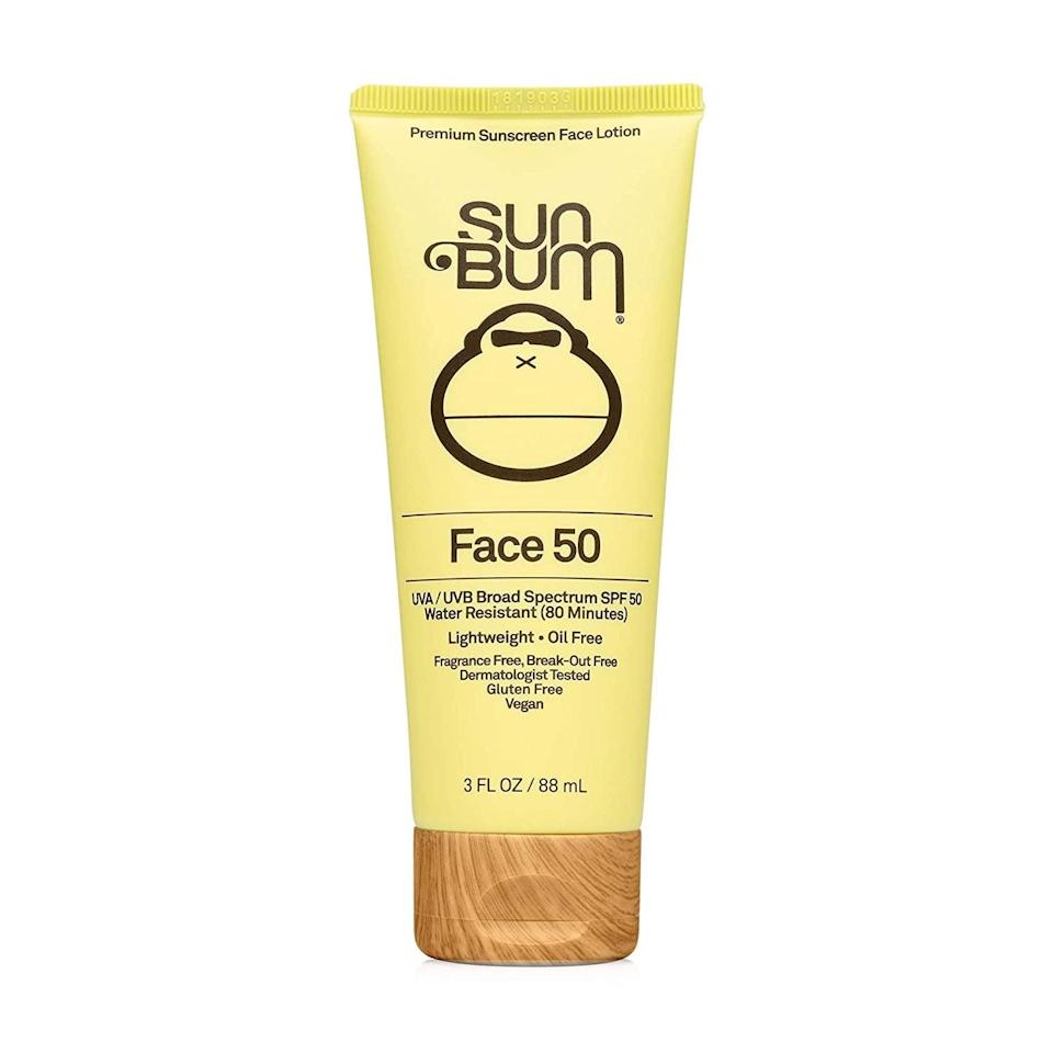 <p>This <span>Sun Bum Original SPF 50 Sunscreen Face Lotion</span> ($13) smells amazing, and helps protect the ocean.</p>