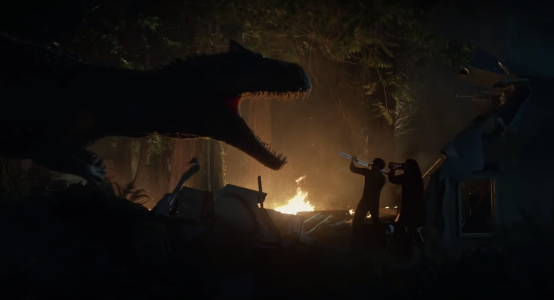 The new 'Jurassic World' short film 'Battle at Big Rock' takes place in a world overrun by dinosaurs. (Photo: Universal/YouTube)
