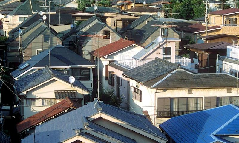 Houses in Tokyo's Suginami ward.