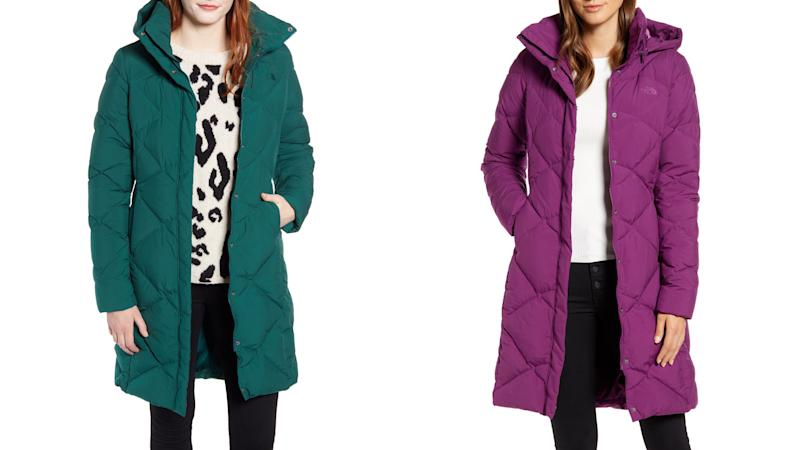 Save a bundle on a colorful winter coat.