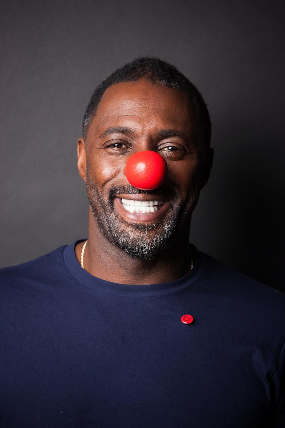 Actor Idris Elba took part in Red Nose Day in 2015 (Trevor Leighton/Comic Relief/Getty Images)