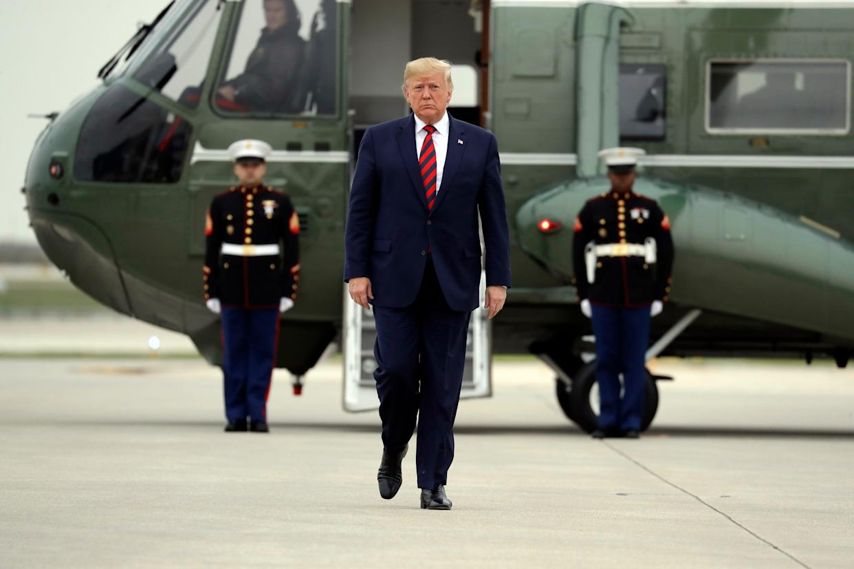 President Donald Trump in Chicago on Oct. 28, 2019.