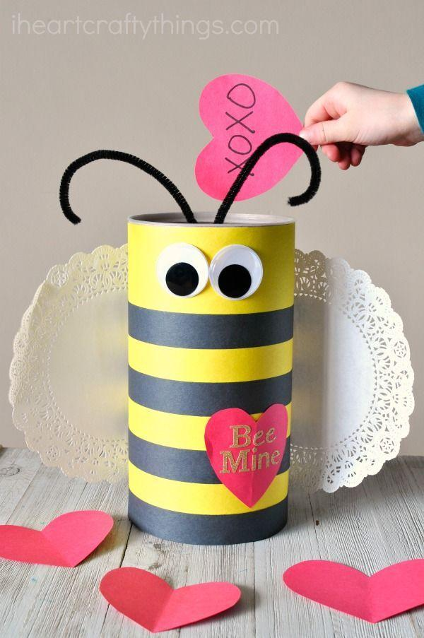 """<p>Here's the only way you can have a bee in the classroom without scaring students (and teachers). </p><p><em><a href=""""https://iheartcraftythings.com/bee-valentine-box.html"""" rel=""""nofollow noopener"""" target=""""_blank"""" data-ylk=""""slk:Get the tutorial at I Heart Crafty Things »"""" class=""""link rapid-noclick-resp"""">Get the tutorial at I Heart Crafty Things »</a></em></p>"""