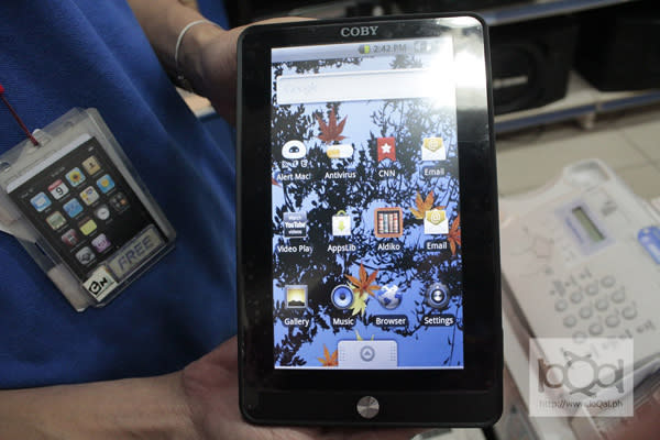 Coby Kyros: An Android tablet PC that fits the budget
