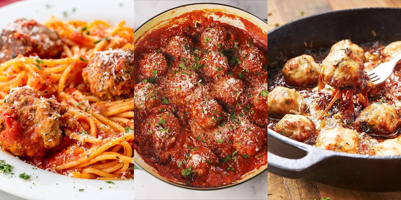 """<p>There's nothing more comforting a plate-full of spaghetti and meatballs (don't even think about telling me otherwise). But sometimes we crave a little something more. You know, <a href=""""https://www.delish.com/uk/cooking/recipes/a29082616/tex-mex-meatball-sub-recipe/"""" target=""""_blank"""">Tex-Mex Meatballs</a>, <a href=""""https://www.delish.com/uk/cooking/recipes/a30069904/mongolian-meatball-ramen-recipe/"""" target=""""_blank"""">Mongolian Meatball Ramen</a>. Oh and <a href=""""https://www.delish.com/uk/cooking/a32570496/dr-pepper-meatballs-recipe/"""" target=""""_blank"""">Dr Pepper Meatballs</a> (yes, really). We're all about new and improved, fun meatball recipes that are beyond easy to make and just as delicious as a good old <a href=""""https://www.delish.com/uk/cooking/recipes/a28868982/best-spaghetti-and-meatballs-recipe/"""" target=""""_blank"""">Spaghetti and Meatballs</a>. So, check out our favourite meatball recipes now. </p>"""