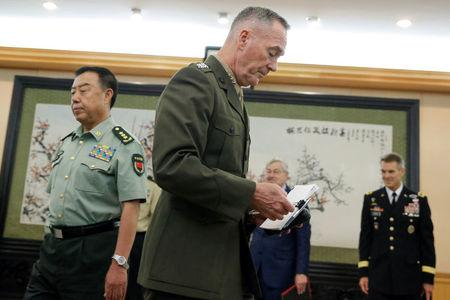 Top US military officer notes 'difficult issues' with China