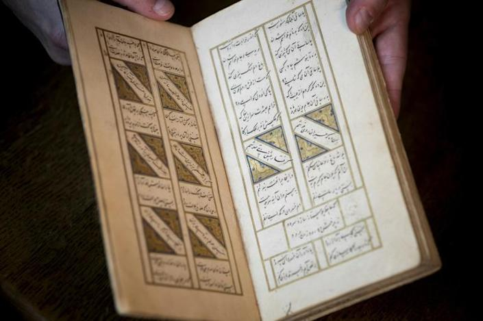 The manuscript dates from 1462 to 1463 (AFP Photo/Kenzo TRIBOUILLARD)