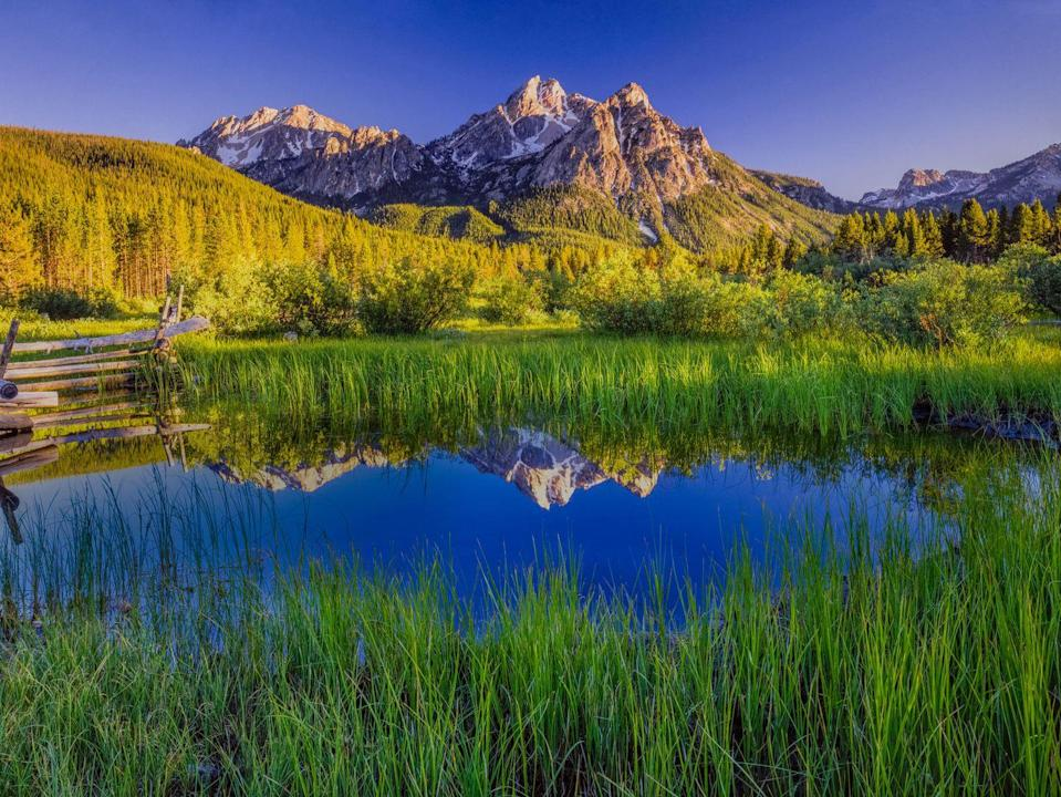 <p>The serene landscape of Sawtooth National Forest is enough to put a visit to Stanley, Idaho on your bucket list. </p>