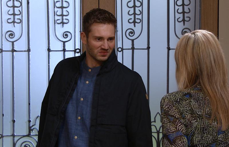 Jamie Tate [ALEXANDER LINCOLN] returns to Home Farm and chides Kim Tate [CLAIRE KING] for what sheÕs done to Andrea and Belle. He leaves Home Farm telling Kim to stay away from him and Millie. (ITV Plc)