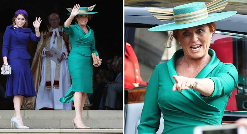 91a8192a Sarah Ferguson comeback at Princess Eugenie royal wedding