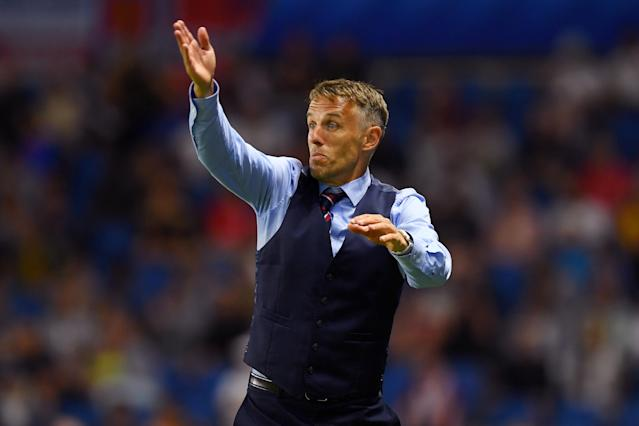 Phil Neville says a pair of USWNT staffers doing their jobs is an example of American arrogance. Right. (Getty)