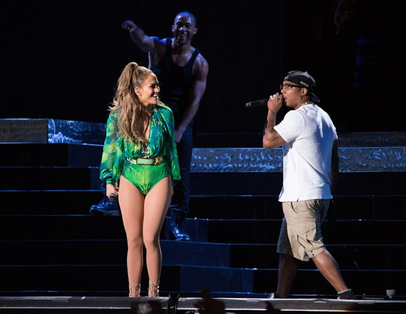 BRONX, NY - JUNE 04: Jennifer Lopez and Ja Rule perform at Orchard Beach on June 4, 2014 in Bronx, New York. (Photo by Dave Kotinsky/Getty Images)