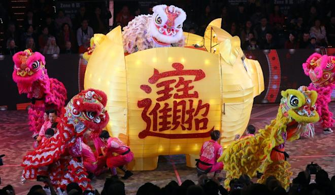 A lion dance performance during last year's parade. Photo: Edmond So