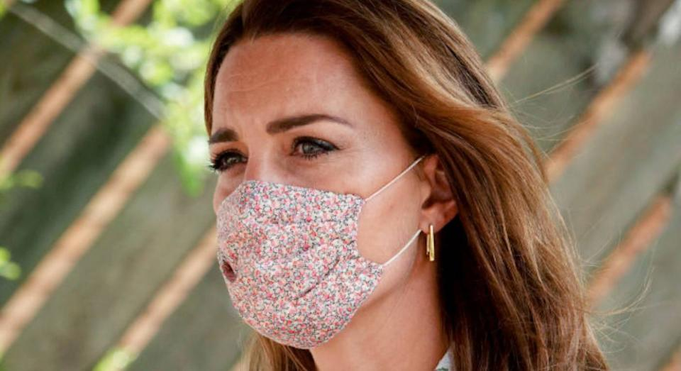 The best Duchess of Cambridge-inspired floral face masks. (Getty Images)