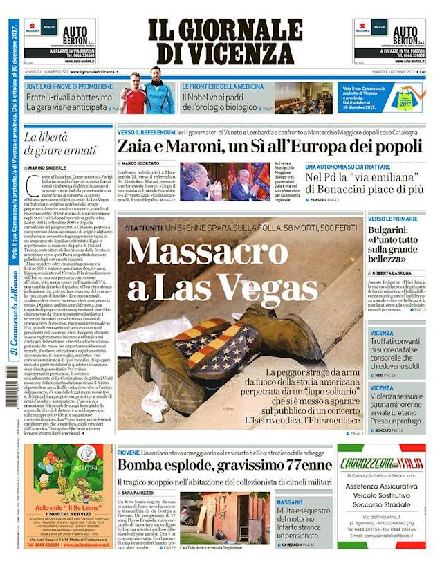 "<p>""Il Giornale di Vicenza,"" published in Vicenza, Italy. (newseum.org) </p>"