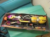 """<p>Please cast your mind back to when your evil older brother tormented you with his Super Soaker. Don't tell him, but that thing will sell for more than <a href=""""https://www.ebay.com/itm/Vintage-Super-Soaker-Larami-Monster-XL-STILL-IN-BOX/173981002528?hash=item2882136b20:g:xRcAAOSw1NNdGZJb"""" rel=""""nofollow noopener"""" target=""""_blank"""" data-ylk=""""slk:$400"""" class=""""link rapid-noclick-resp"""">$400</a> if you can find it before he does at your parents' house. The ultimate revenge.</p>"""