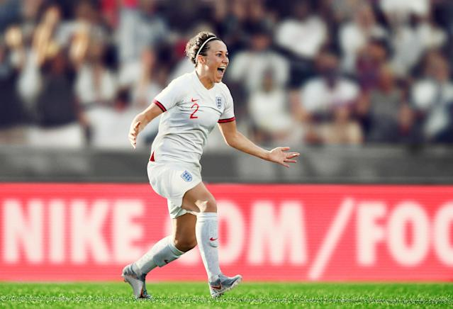 <p>Rather than share a kit design with the senior men's team, as has previously been the case, the Lionesses will head into the tournament sporting a fresh take on the traditional white kit, accented by dark red cuffs. </p>