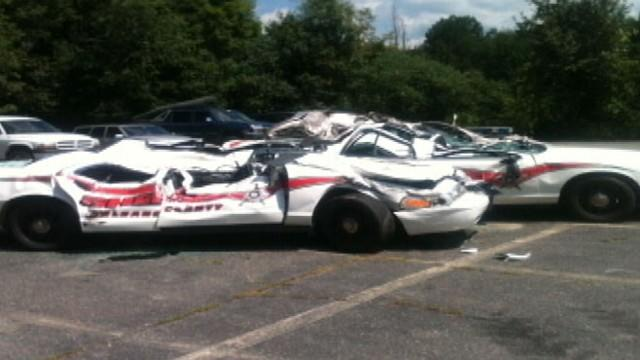 Vt. Farmer Uses Tractor to Crush 7 Police Cars