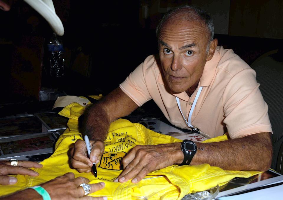 BURBANK, CA - OCTOBER 06:  Actor John Saxon  participates in The Hollywood Show held at Burbank Airport Marriott Hotel & Convention Center on October 6, 2012 in Burbank, California.  (Photo by Albert L. Ortega/Getty Images)