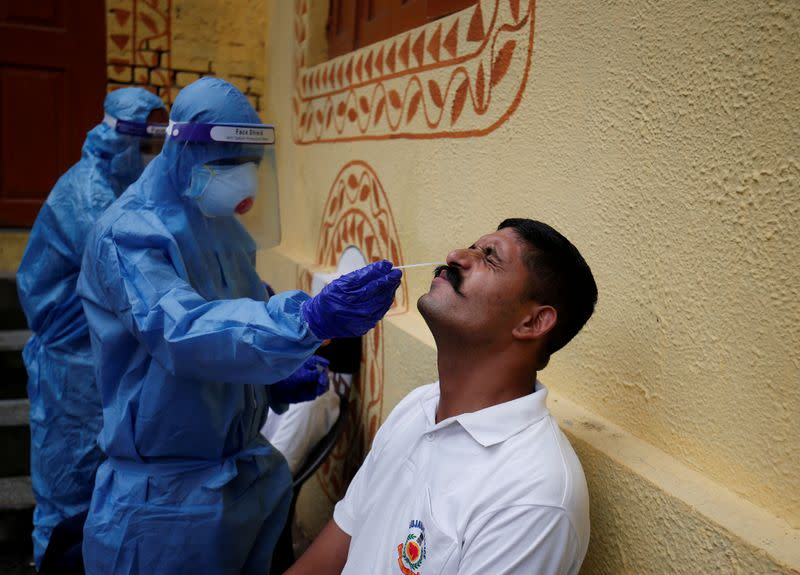 FILE PHOTO: Outbreak of coronavirus disease (COVID-19) in Ahmedabad