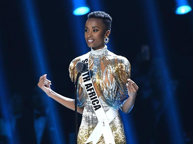 Miss Universe 2019 Zozibini Tunzi, of South Africa, appears onstage at the 2019 Miss Universe Pageant: Getty Images