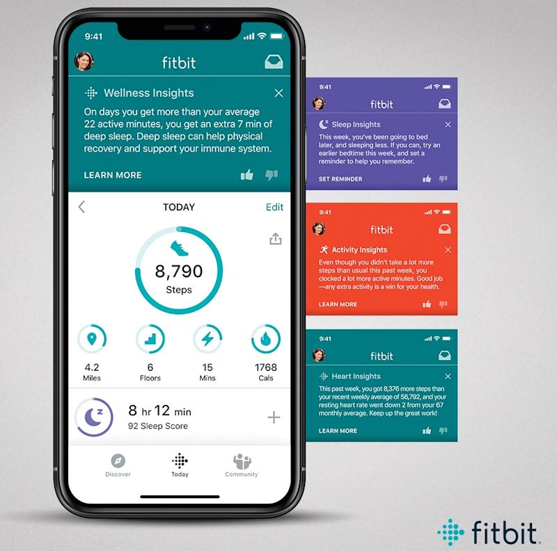 Fitbit Premium's Wellness Insights give you an idea of how things like your sleep, exercise routine and heart rate impact your health. (Image: Fitbit)