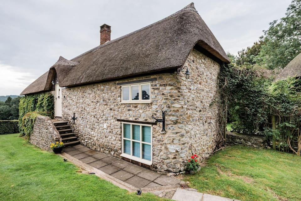 """<p>Nestled deep in the Devonshire countryside is this converted barn that's perfect for lovers. The romantic retreat is an Airbnb in Devon you'll both fall in love with.</p><p>There's a vintage roll top bath, vaulted ceilings and a king-sized bed to create a cute love nest for two. It's a spacious retreat, where you can just as easily spend a winter's break holed up inside as a summer staycation, with its glorious surroundings to explore.<br></p><p><strong>Sleeps</strong>: 2</p><p><strong>Price per night:</strong> £167</p><p><strong>Why we love it:</strong> The history and character - from the exposed brick to the vaulted ceilings.</p><p><a class=""""link rapid-noclick-resp"""" href=""""https://www.airbnb.co.uk/rooms/plus/15441205"""" rel=""""nofollow noopener"""" target=""""_blank"""" data-ylk=""""slk:SEE INSIDE"""">SEE INSIDE</a></p>"""