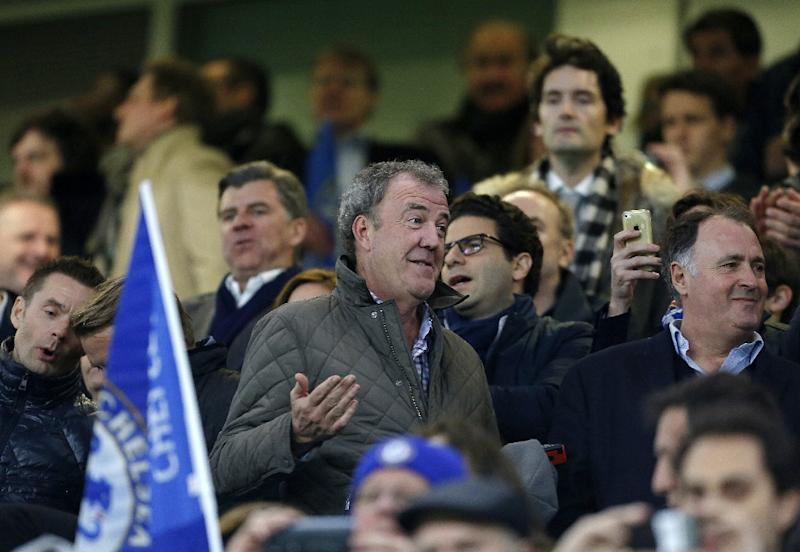 British television personality Jeremy Clarkson attends the match between Chelsea and Paris Saint-Germain at Stamford Bridge in London on March 11, 2015 (AFP Photo/Ian Kington)