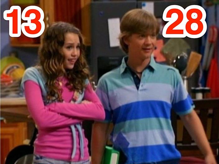 Miley Cyrus and Jason Earles are 15 years apart.