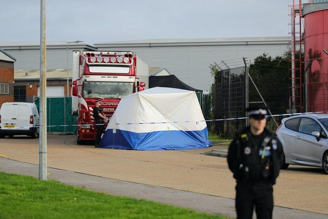 Police activity at the scene in Essex