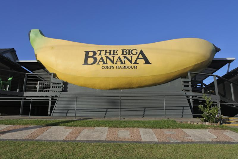 The Big Banana Fun Park. The Big Banana is a tourist attraction and amusement park in the city of Coffs Harbour, New South Wales, Australia.