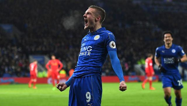 <p><strong>Team Goals:</strong> 30</p> <p><strong>Vardy's Goals:</strong> 7</p> <br><p>This season has been nothing like the last one for Jamie Vardy. But, then again, this season has been nothing like last term for Leicester as a club, so the former non-league star remains the Foxes' top scorer. Riyad Mahrez has similarly dropped off after the 2015/16 fairytale.</p>