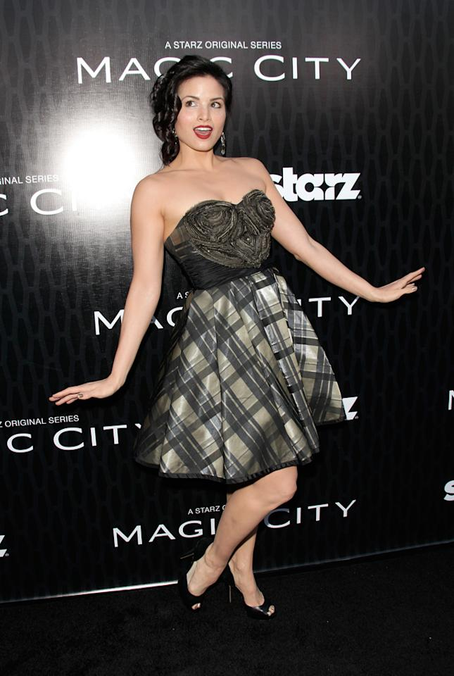 "Katrina Law attends the Starz '<a target=""_blank"" href=""http://tv.yahoo.com/magic-city/show/46996"">Magic City</a>' Los Angeles Series Premiere at Directors Guild Of America on March 20, 2012 in Los Angeles, California."