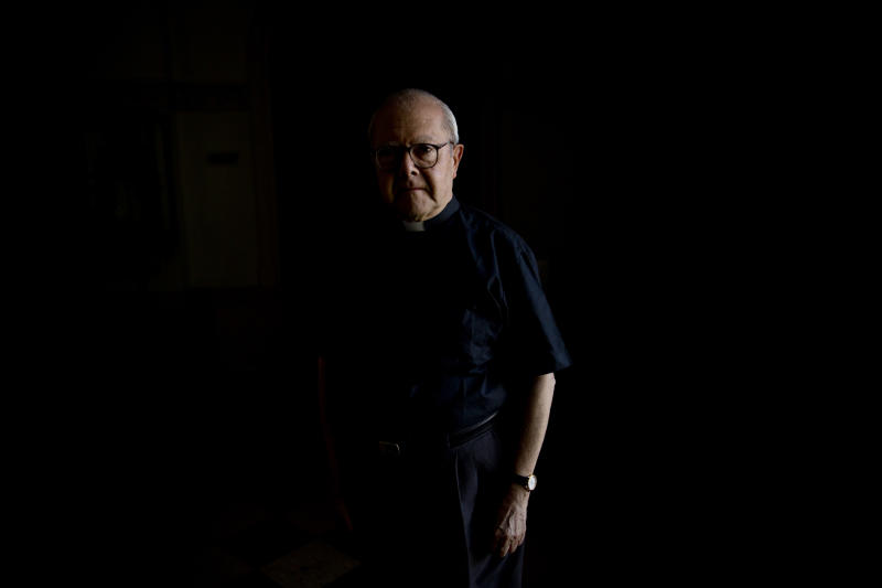 "In this Nov. 29, 2013 photo, Jesuit priest and theologian Juan Carlos Scannone poses for a portrait at the Colegio Maximo in Buenos Aires, Argentina. Scannone taught Jorge Mario Bergoglio, now Pope Francis, Greek and literature. Scannone says he was targeted by the Military Junta because he promoted a non-Marxist ""theology of the people"" and worked with slum-dwellers in the city's ""misery villages."" He said Bergoglio not only defended him against criticism within the church, but personally delivered his writings for publication even when military was trying to find him. (AP Photo/Natacha Pisarenko)"