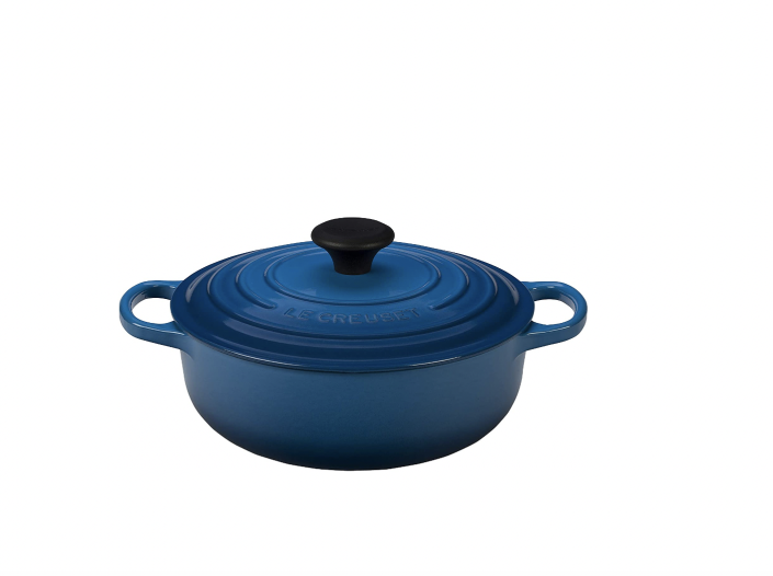 """<p><strong>Le Creuset</strong></p><p>amazon.com</p><p><strong>$179.95</strong></p><p><a href=""""https://www.amazon.com/dp/B00SK5KJ30?tag=syn-yahoo-20&ascsubtag=%5Bartid%7C2142.g.36364738%5Bsrc%7Cyahoo-us"""" rel=""""nofollow noopener"""" target=""""_blank"""" data-ylk=""""slk:Shop Now"""" class=""""link rapid-noclick-resp"""">Shop Now</a></p><p>Le Creuset is considered by many to be the gold standard of <a href=""""https://www.goodhousekeeping.com/cooking-tools/cookware-reviews/"""" rel=""""nofollow noopener"""" target=""""_blank"""" data-ylk=""""slk:cookware"""" class=""""link rapid-noclick-resp"""">cookware</a>. This versatile 3.5-quart sauteuse oven will be perfect for all the casseroles, soups, and one-pot meals you've long put off trying to make.</p>"""