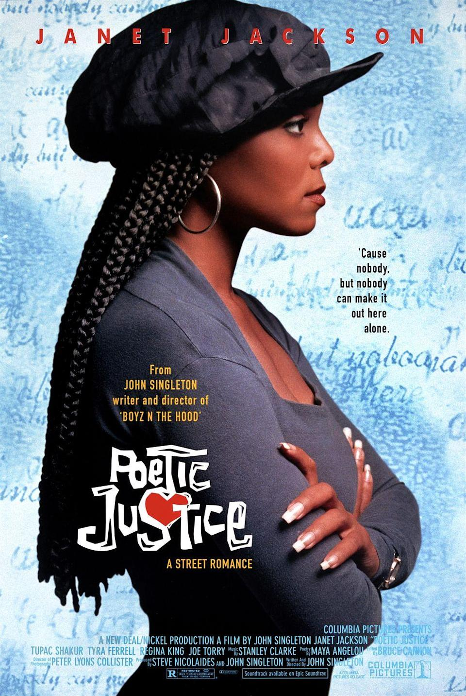 "<p>As a result of her style in the starring role in 1993's <em><a href=""https://www.amazon.com/Poetic-Justice-Regina-King/dp/0767821955?tag=syn-yahoo-20&ascsubtag=%5Bartid%7C10052.g.31027503%5Bsrc%7Cyahoo-us"" rel=""nofollow noopener"" target=""_blank"" data-ylk=""slk:Poetic Justice"" class=""link rapid-noclick-resp"">Poetic Justice</a></em>, Janet Jackson inspired women to wear their hair in <a href=""https://www.goodhousekeeping.com/beauty/hair/tips/g1894/celebrity-hairstyles-braids/"" rel=""nofollow noopener"" target=""_blank"" data-ylk=""slk:long box braids"" class=""link rapid-noclick-resp"">long box braids</a>.</p>"