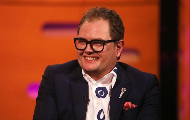 Alan Carr during the filming for the Graham Norton Show (Isabel Infantes/PA Images via Getty Images)