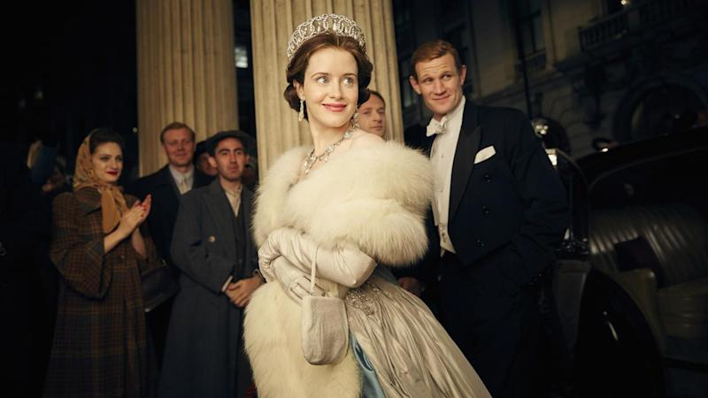 Claire Foy as Queen Elizabeth II and Matt Smith as Philip, Duke of Edinburgh in the Netflix hit 'The Crown'