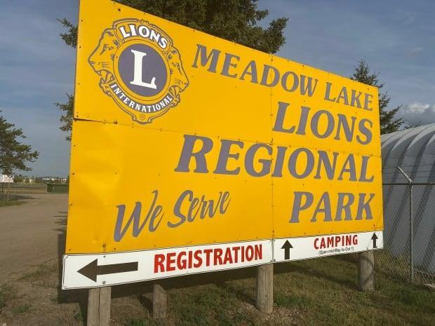 RCMP say a man and a woman died at the Meadow Lake Lions Regional Park after multiple reports of gunfire. They are calling the incident a homicide-suicide and say it was the man who took his own life. (Bonnie Allen/CBC - image credit)