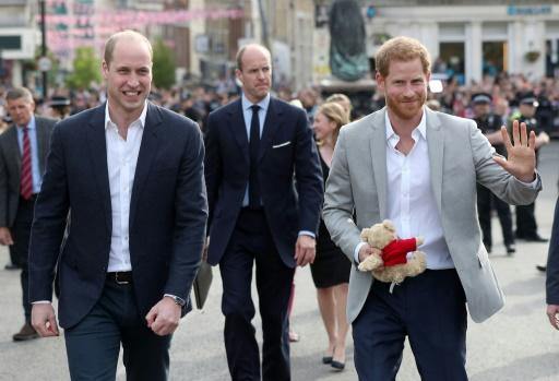 Prince Harry and his best man, brother Prince William, went to greet the crowds outside Windsor Castle, where many will spend the night to secure a good spot for Saturday's events