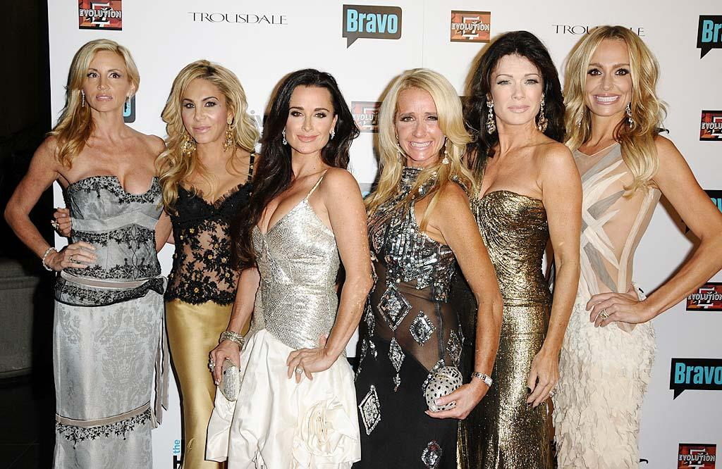 "Their bling may be real, but we're not convinced anything else about the ""Real Housewives of Beverly Hills"" is. Jason LaVeris/<a href=""http://filmmagic.com/"" target=""new"">FilmMagic.com</a> - October 11, 2010"