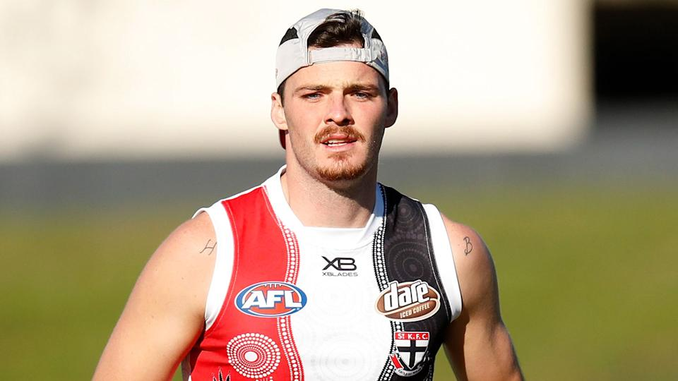 Dylan Roberton is pictured here at training with St Kilda.