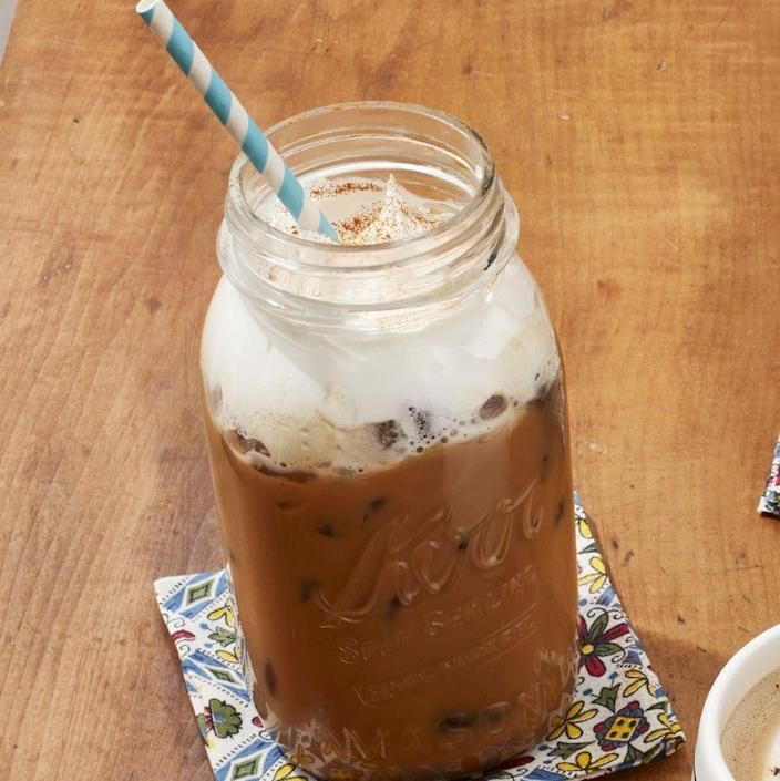 """<p>Straight from The Merc menu, this decadent cold brew has hints of vanilla, chiles, chocolate, cinnamon, and cayenne. Talk about a pick-me-up!</p><p><a href=""""https://www.thepioneerwoman.com/food-cooking/recipes/a35916176/spicy-cowgirl-coffee-recipe/"""" rel=""""nofollow noopener"""" target=""""_blank"""" data-ylk=""""slk:Get the recipe."""" class=""""link rapid-noclick-resp""""><strong>Get the recipe.</strong></a></p><p><a class=""""link rapid-noclick-resp"""" href=""""https://www.amazon.com/Ball-Regular-32-Ounces-2-Units-Pack/dp/B01N6QBJG0/ref=sr_1_19?tag=syn-yahoo-20&ascsubtag=%5Bartid%7C2164.g.36145857%5Bsrc%7Cyahoo-us"""" rel=""""nofollow noopener"""" target=""""_blank"""" data-ylk=""""slk:SHOP MASON JARS"""">SHOP MASON JARS</a></p>"""