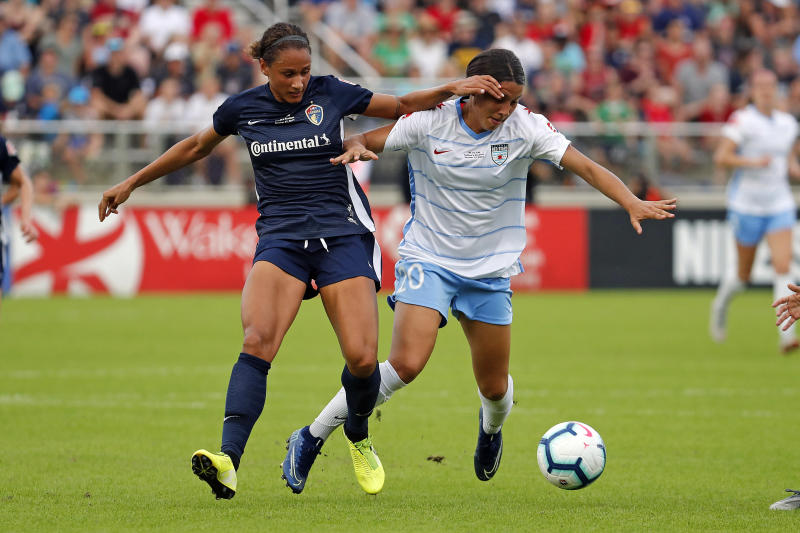 Have we seen the last of Sam Kerr (right) with the Chicago Red Stars? (Getty)