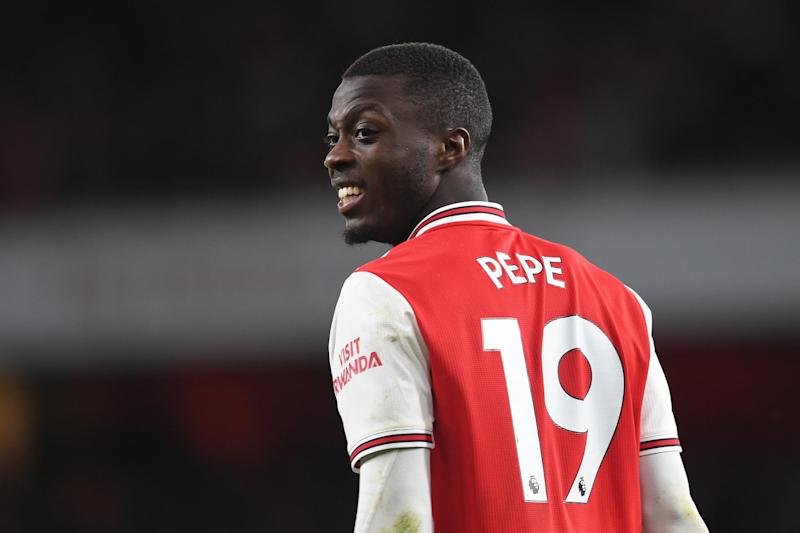 Lacazette says Arsenal must be patient with record signing Nicolas Pepe (Arsenal FC via Getty Images)