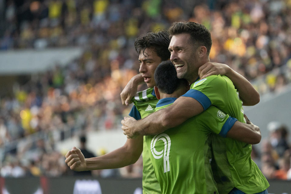 The Sounders capped a huge week of road results with a thrilling rally in Columbus in a rematch of MLS Cup. (Photo by Jason Mowry/Icon Sportswire via Getty Images)