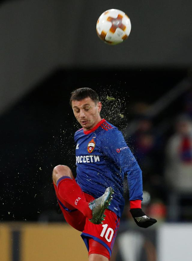 Soccer Football - Europa League Round of 32 Second Leg - CSKA Moscow vs Red Star Belgrade - VEB Arena, Moscow, Russia - February 21, 2018 CSKA Moscow's Alan Dzagoev in action REUTERS/Maxim Shemetov
