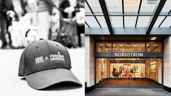 Frye, Nordstrom, and other retailers are giving back during this trying time.